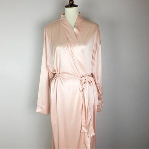 Victoria's Secret Vintage Silky Pink Bath Robe